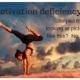 Lady doing yoga giving motivation